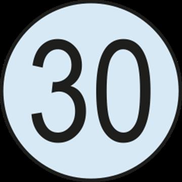 Placa Disco Nacional Limitacion Velocidad