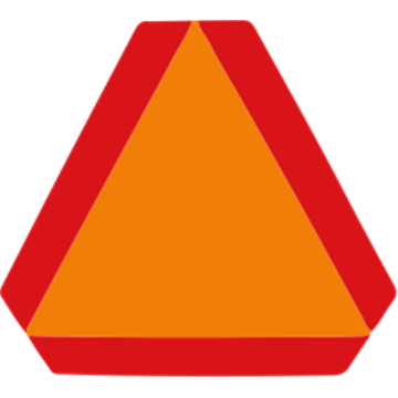 Placa Vehículo lento