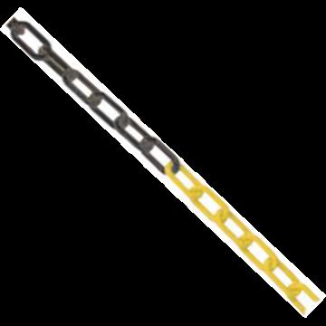 Cadena de Plástico 200 mts - Grueso 6 mm. Amarillo/Negro