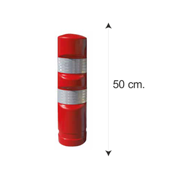 Hito Polietileno Reemplazable H50 - Rojo