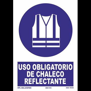 Señal: Uso obligatorio de chaleco reflectante