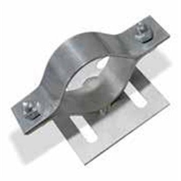 Abrazadera de Señal Metálica para Tubo Cilíndrico