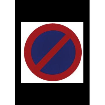 Señal bolsa prohibido aparcar