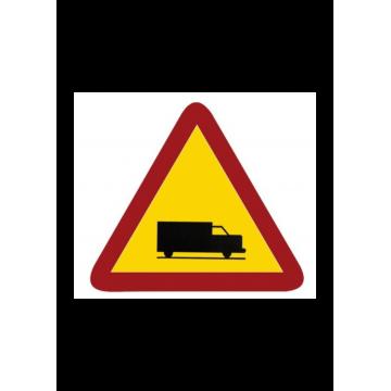 Señal bolsa peligro camiones