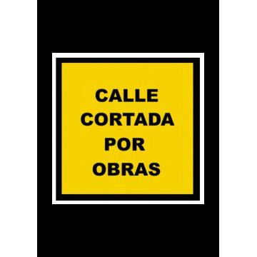 Señal bolsa Calle cortada por obras