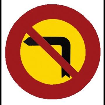 Giro a la izquierda prohibido