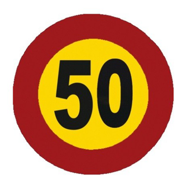 Velocidad máxima 50 km.