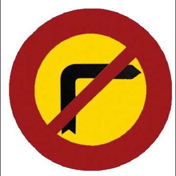 Giro a la derecha prohibido