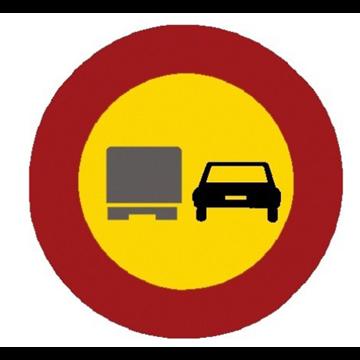 Adelantamiento prohibido a camiones