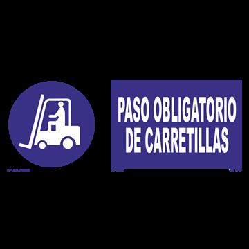 Señal: Paso obligatorio de carretillas