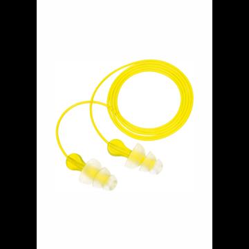 Tri-Flange Tapones reutilizables con cordón de vinilo  (100 PARES)