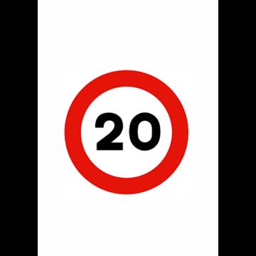 Velocidad máxima 20 km.