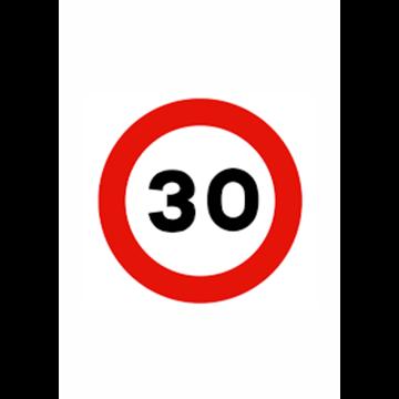 Velocidad máxima 30 km.