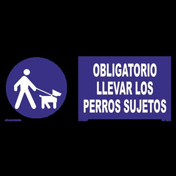 Señal: Obligatorio llevar a los perros sujetos