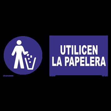 Señal: Utilicen la papelera