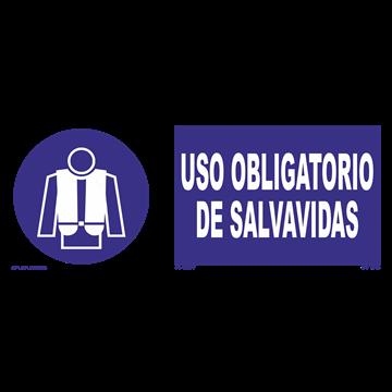 Señal: Uso obligatorio de salvavidas