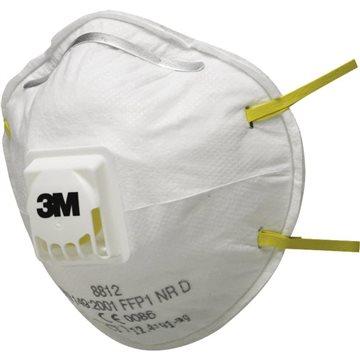 3M Mascarilla desechable autofiltrante para partículas FFP1 con válvula  (CAJA 10 UDS)