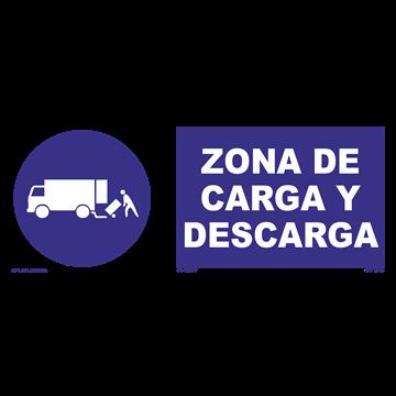 Señal: Zona de carga y descarga