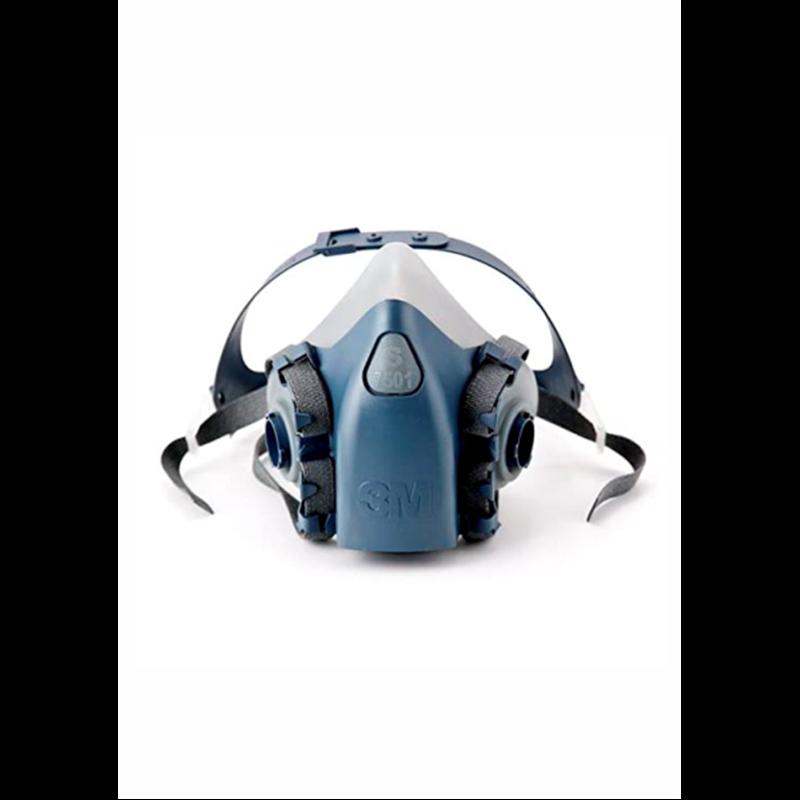 Señal: Uso obligatorio de casco, gafas y proteccion auditiva