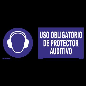 Señal: Uso obligatorio de protector auditivo