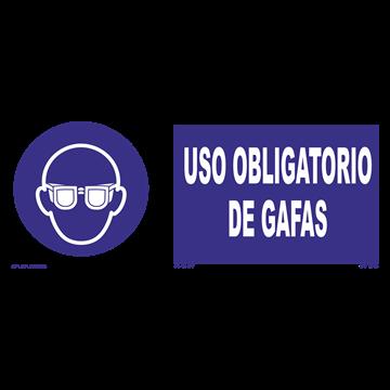 Señal: Uso obligatorio de gafas o pantalla