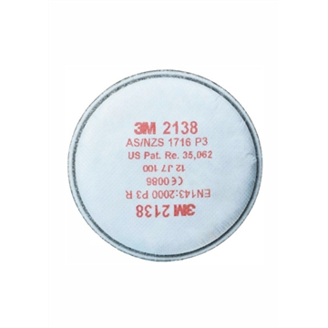 2138 Filtros para partículas P3R, vapores orgánicos y gases ácidos. (PVP 1 UNIDAD)