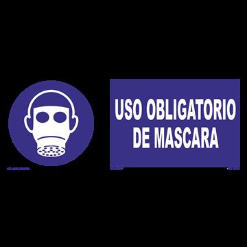Señal: Uso obligatorio de mascara