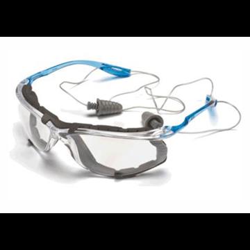 TORA Gafas CCS PC incolora AR y AE, patilla para cordón del protector auditivo