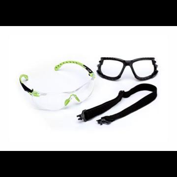 Kit Gafas Solus 1000 negro/verde PC incolora