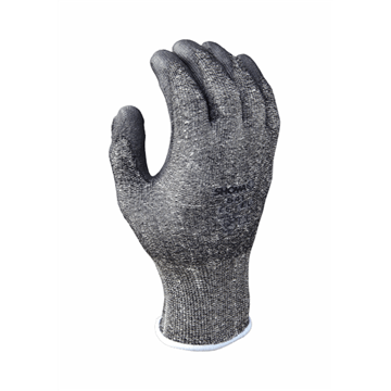 Guante de protección contra cortes, HPPE, revestimiento de poliuretano gris