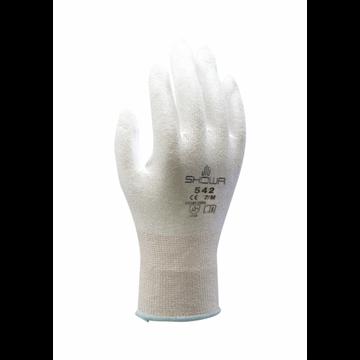 Guante anti-corte Forro de HPPE Revestimiento de poliuretano versión blanca