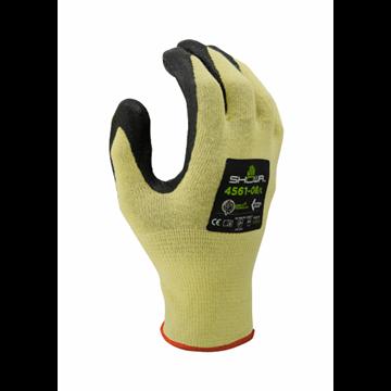 Guante de protección contra cortes, forro de hilos de ingeniería reforzado con Kevlar, recubrimiento nitrilo en la palma
