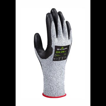 Recubrimiento de espuma de nitrilo en la palma sobre spandex / forro de ingeniería resistente a cortes reforzado con HPPE