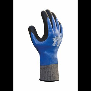 Guante de protección contra cortes recubierto de nitrilo completo con nitrilo espumado en la palma
