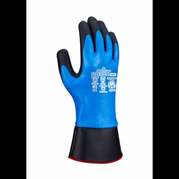 Guante de protección contra cortes con recubierto de nitrilo completo con nitrilo espumado en la palma