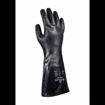 Revestimiento de guante de poliéster / fibra de vidrio Recubrimiento de neopreno
