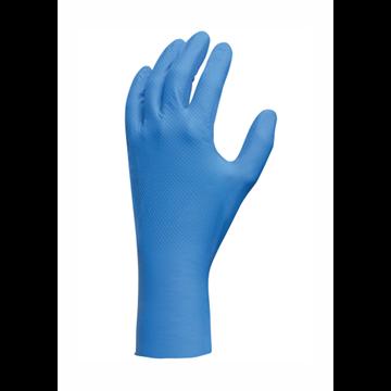 Guante ligero ambidiestro azul, 100% nitrilo, sin látex ni polvo, 300 mm de largo