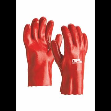 Guante fabricado en PVC rojo 27 CMS.