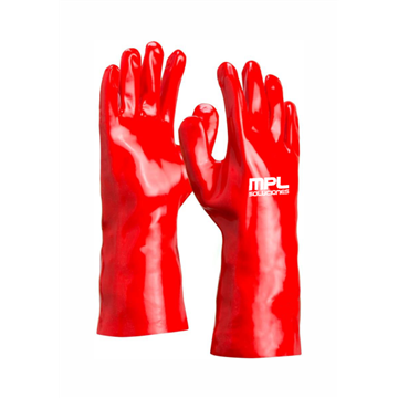 Guante fabricado en PVC rojo 35 CMS  (Cat. III)