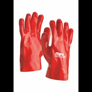 Guante fabricado en PVC rojo 27 CMS  (Cat. III)