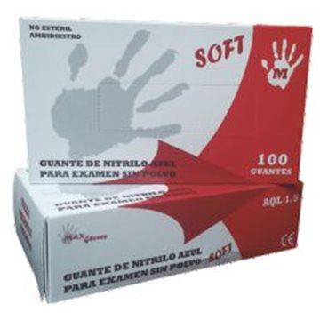 Guante de Nitrilo Sin Polvo Soft 3,6 grs - 100 unid