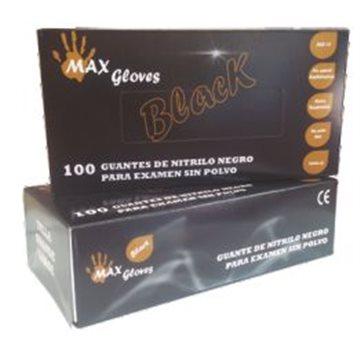 Guante de Nitrilo Sin Polvo Black 5,5 grs - 100 unid