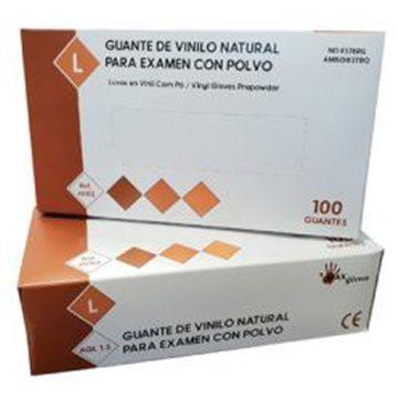 Guante de Vinilo Con Polvo Max Gloves 4,5 grs - 100 unid