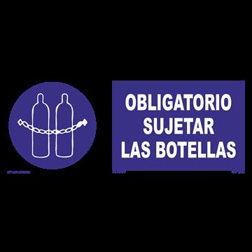Señal: Obligatorio sujetar botellas