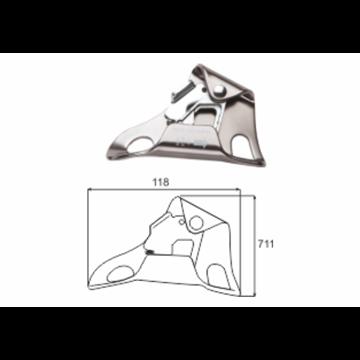 Bloqueador de pecho manual para cuerdas máx. Ø 8-13 mm.