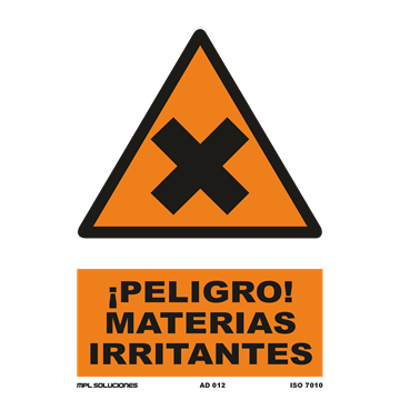 Señal: ¡Peligro! Materias irritantes
