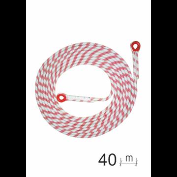 Línea de seguridad en cuerda 40 m, con guarda cabos