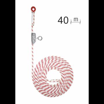 Línea de seguridad vertical en cuerda 40 m*12Ø mm + bloqueador   con seguro.