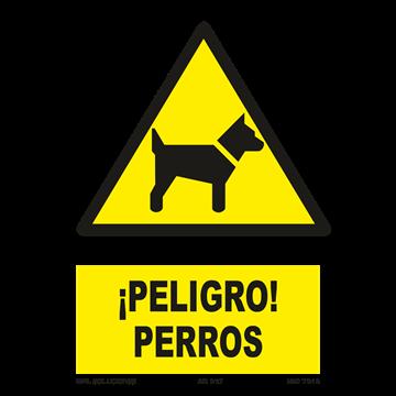 Señal: ¡Peligro! Perro peligroso