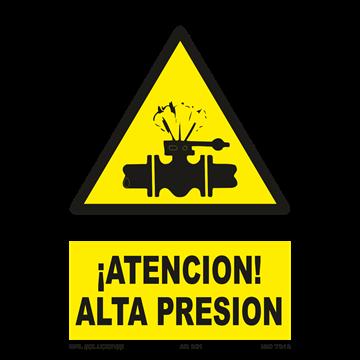 Señal: ¡Atencion! Alta presion